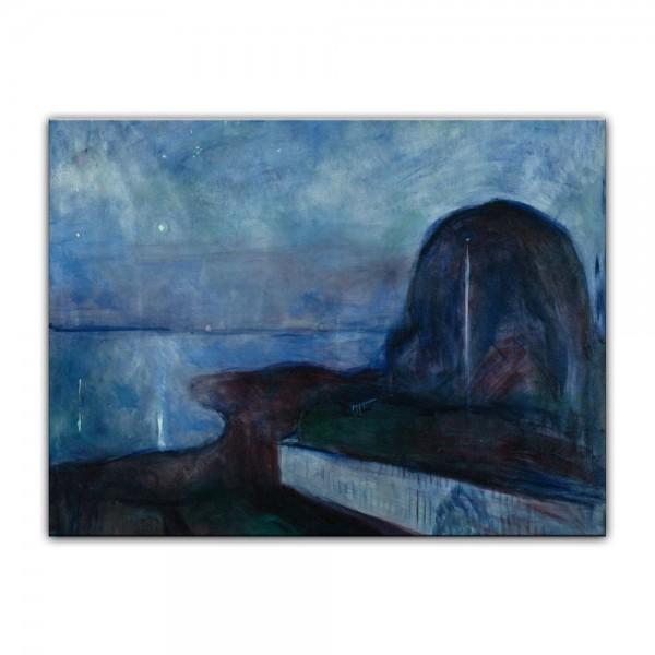 Leinwandbild - Edvard Munch - Starry Night - Sternennacht