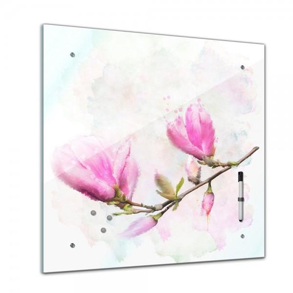 Memoboard - Aquarelle - Magnolien - 40x40 cm