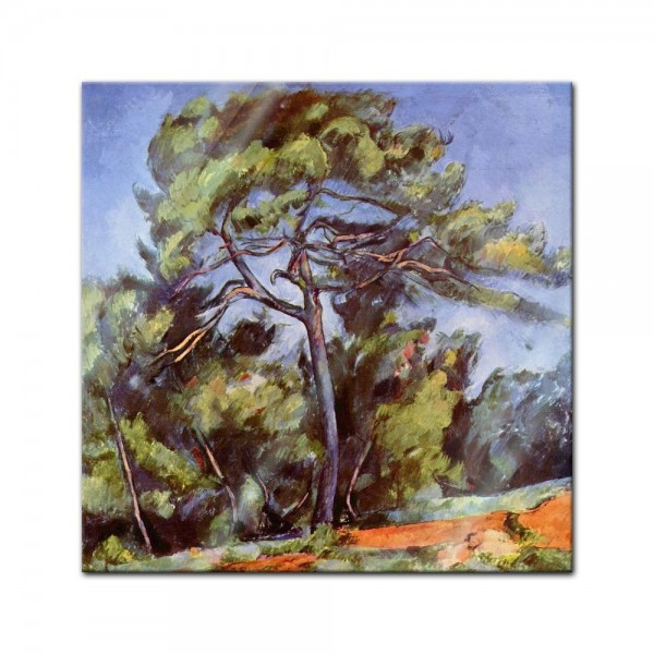 Glasbild Paul Cézanne - Alte Meister - Die grosse Kiefer