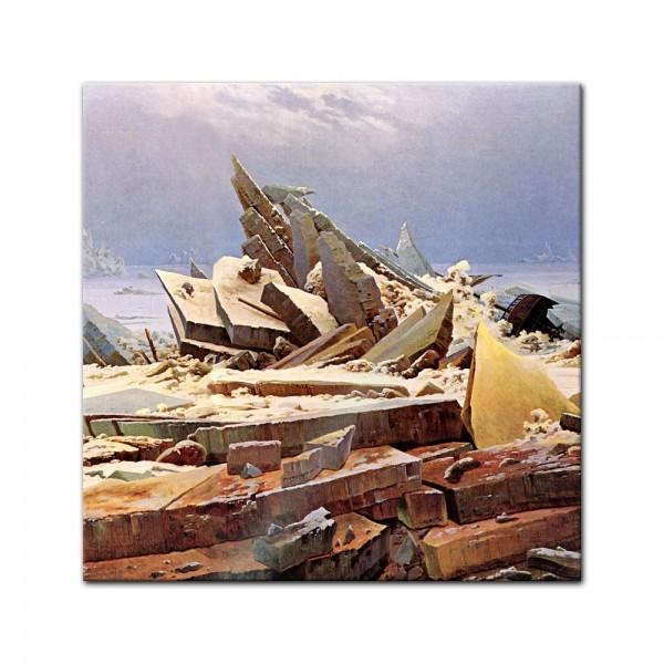 Glasbild Caspar David Friedrich - Alte Meister - Das Eismeer