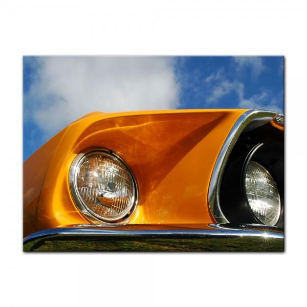 Leinwandbild - Ford Mustang - orange