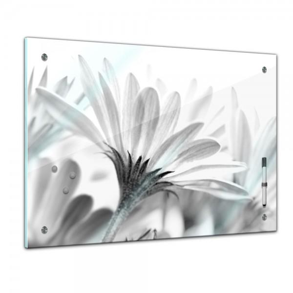 Memoboard - Pflanzen & Blumen - Blume s/w - 60cmx40cm