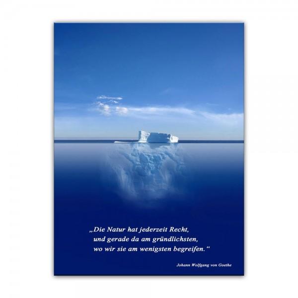 Leinwandbild mit Zitat - Die Natur hat jederzeit Recht. (Johann Wolfgang von Goethe)