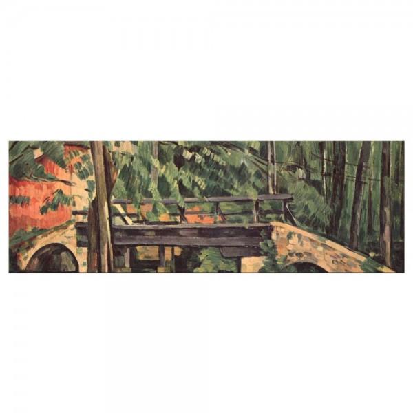Leinwandbild - Paul Cézanne - Die Brücke von Maincy
