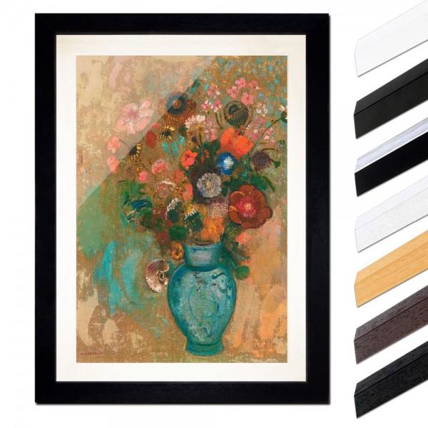 Odilon Redon - Blumen in einer blauen Vase