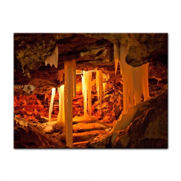 Leinwandbild - Grotte in Kungur Ice Cave - Russland
