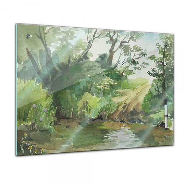 Memoboard - Aquarelle - Flußufer