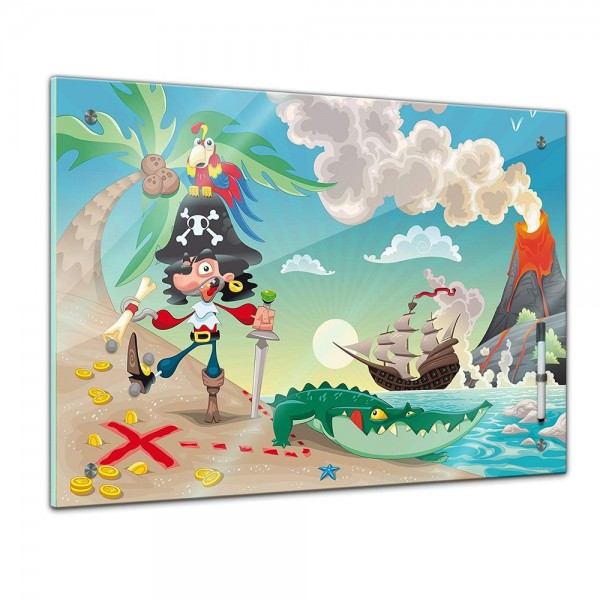 Memoboard - Kinder - Pirat auf Insel