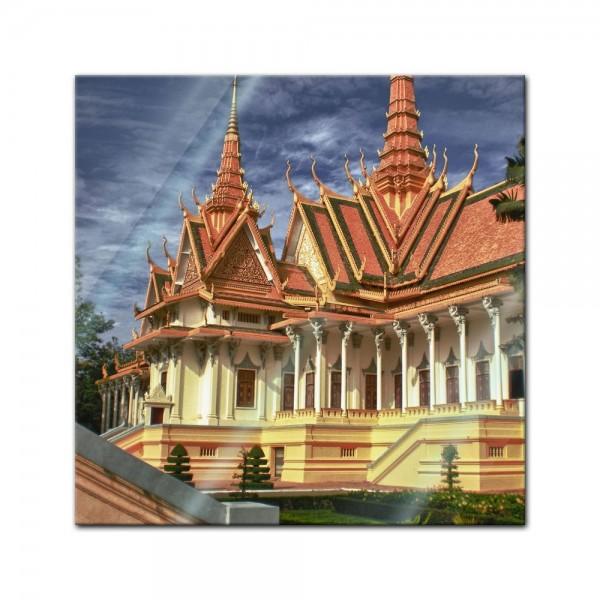 Glasbild - Tempel Phnom Penh