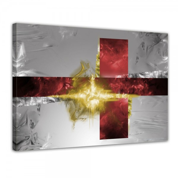 SALE Leinwandbild - Flitter rot gelb - 50x40 cm