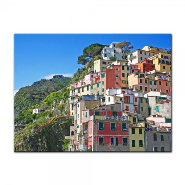 Leinwandbild - Riomaggiore Fischerdorf Cinque Terre II