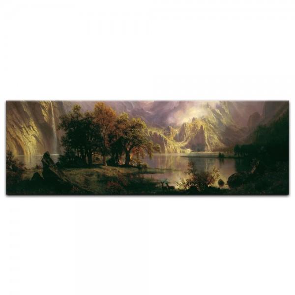 Leinwandbild - Albert Bierstadt - Rocky Mountain Landscape