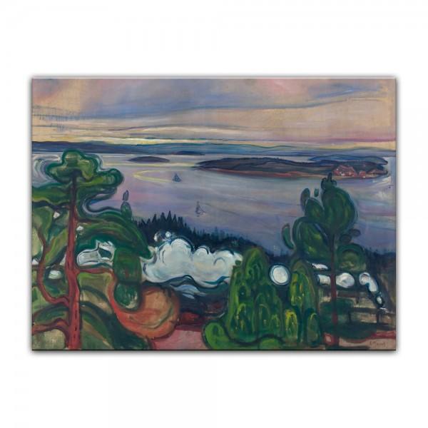 Leinwandbild - Edvard Munch - Train Smoke