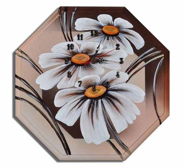 Wanduhr - Blumen M4
