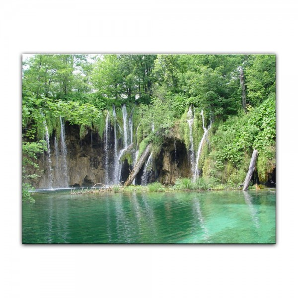 Leinwandbild - Einsamer Wasserfall