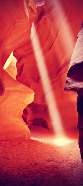 Türtapete selbstklebend Antelope Canyon Vintage 90 x 200 cm USA Tal Schlucht Arizona Landschaft
