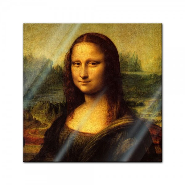 Glasbild Leonardo da Vinci - Alte Meister - Mona Lisa