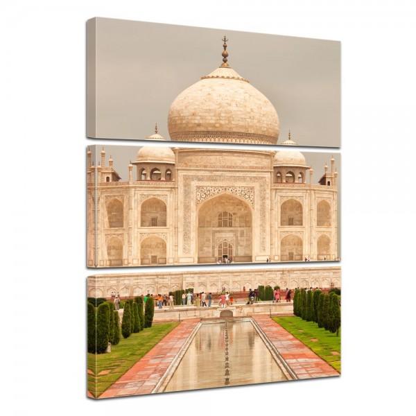 SALE Leinwandbild - Taj Mahal Agra - 60x90 cm 3tlg