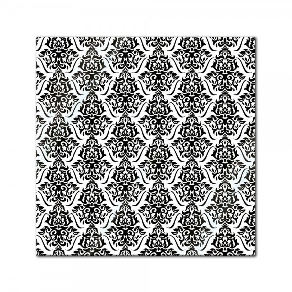 Glasbild - Florales Muster Tapete