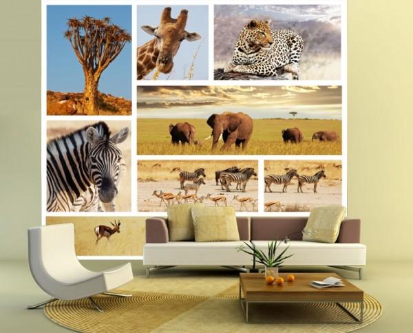 Fototapete Afrika Collage II