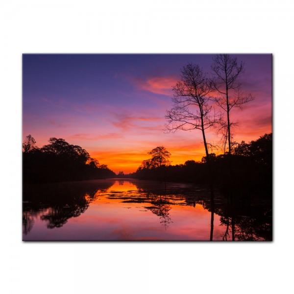 Leinwandbild - Tropischer Sonnenuntergang