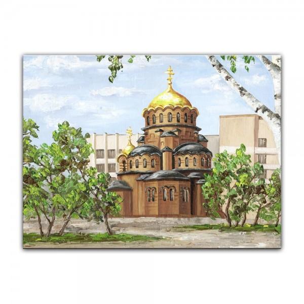 Leinwandbild - Reproduktion Aquarell - Kathedrale von Nevsky