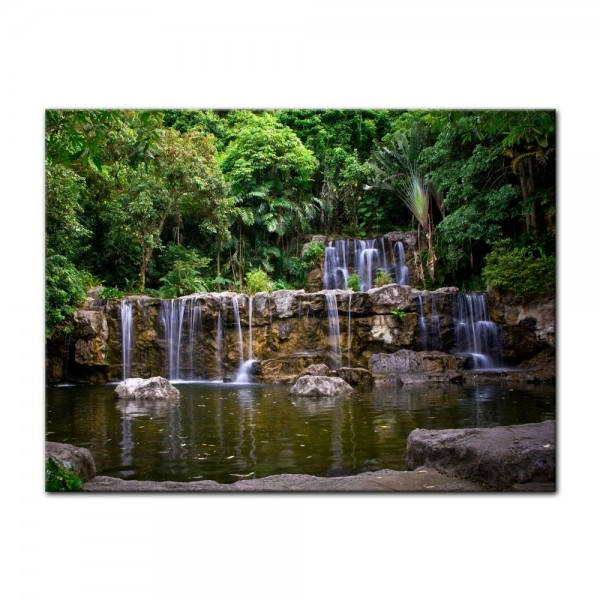 Leinwandbild - Wasserfall in Thailand
