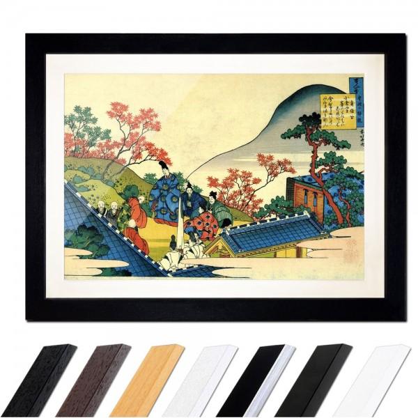 Katsushika Hokusai - Das Gedicht von Teishin Kô