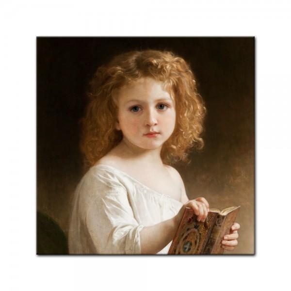 Leinwandbild - William-Adolphe Bouguereau - Geschichtenbuch