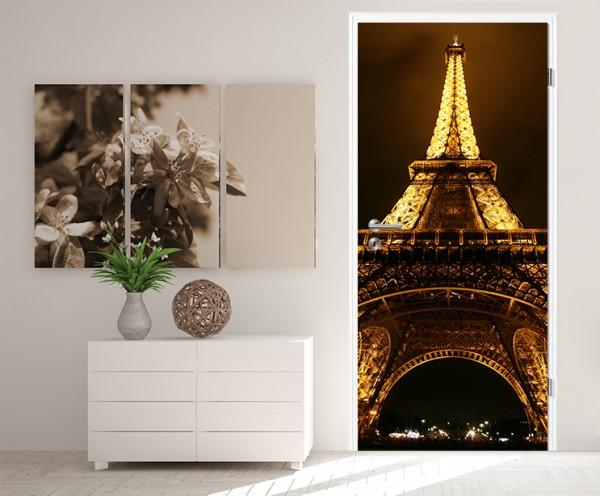 Türaufkleber Eiffelturm by Night - Frankreich