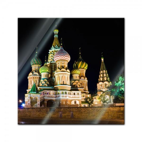 Glasbild - Basilius Kathedrale in Moskau - Russland