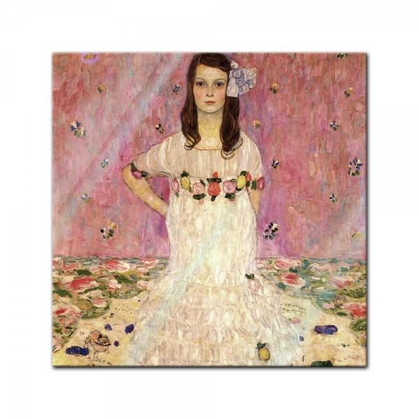 Glasbild Gustav Klimt - Alte Meister - Portrait der Eugenia Primavesi
