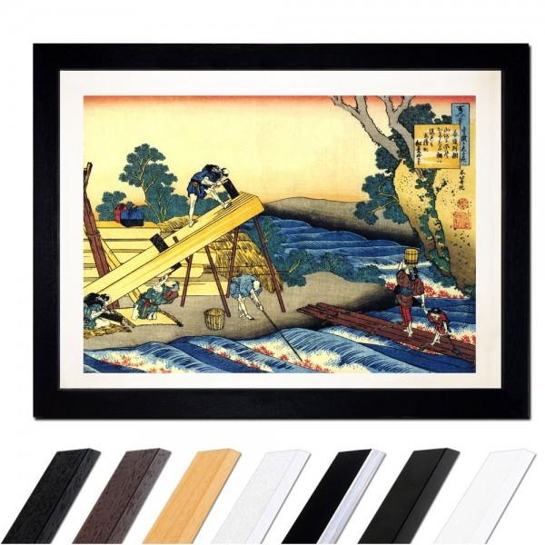 Katsushika Hokusai - Das Gedicht von Harumichi no Tsuraki