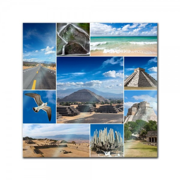 Glasbild - Mexiko Collage