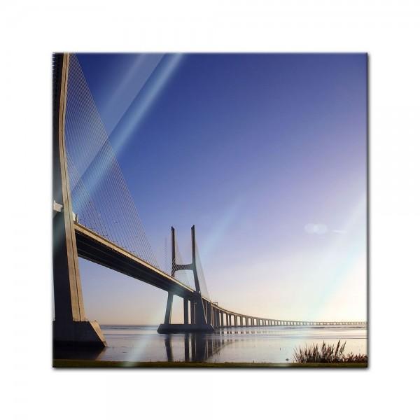 Glasbild - Brücke