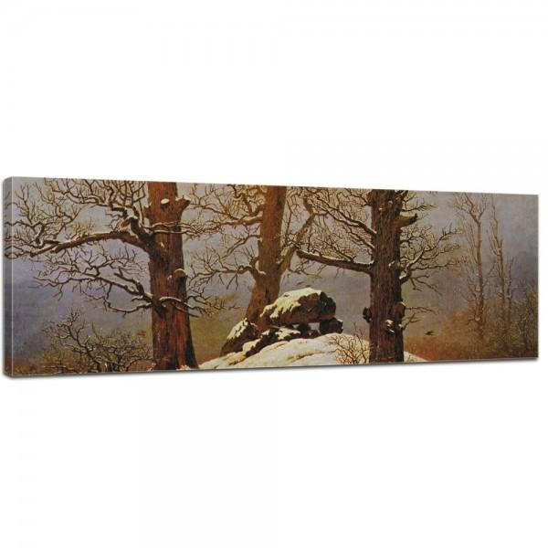 SALE Leinwandbild - Caspar David Friedrich Hünengrab im Schnee - 120x40 cm