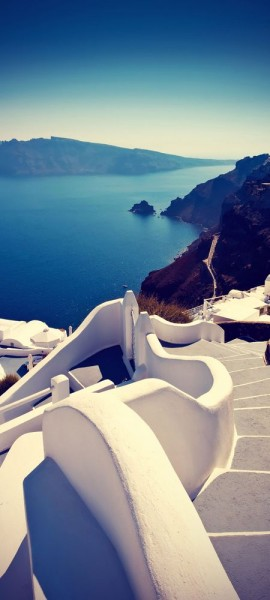 Türtapete selbstklebend Greece Vintage 90 x 200 cm Europa Griechenland Insel Reisen Meer Landschaft