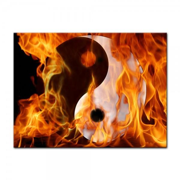 Leinwandbild - Yin und Yang im Feuer
