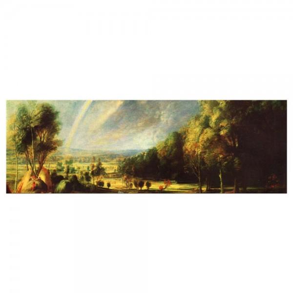 Leinwandbild - Peter Paul Rubens - Landschaft mit dem Regenbogen
