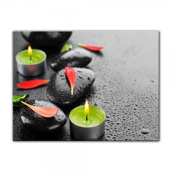 Leinwandbild - Zen Steine IX
