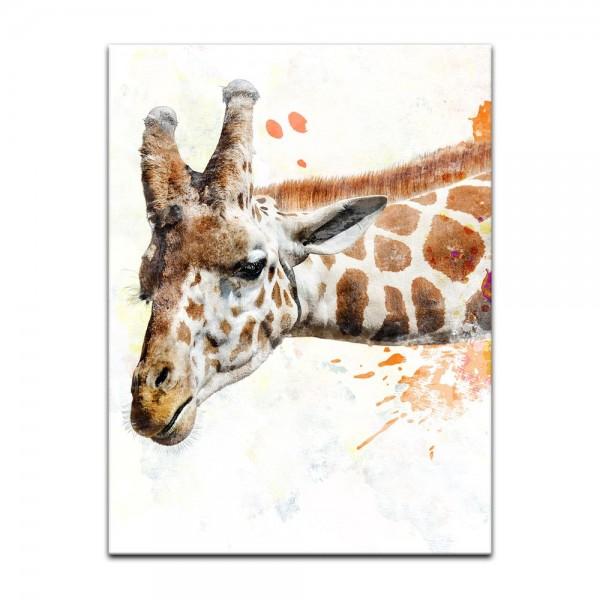 Leinwandbild - Aquarell - Giraffe III