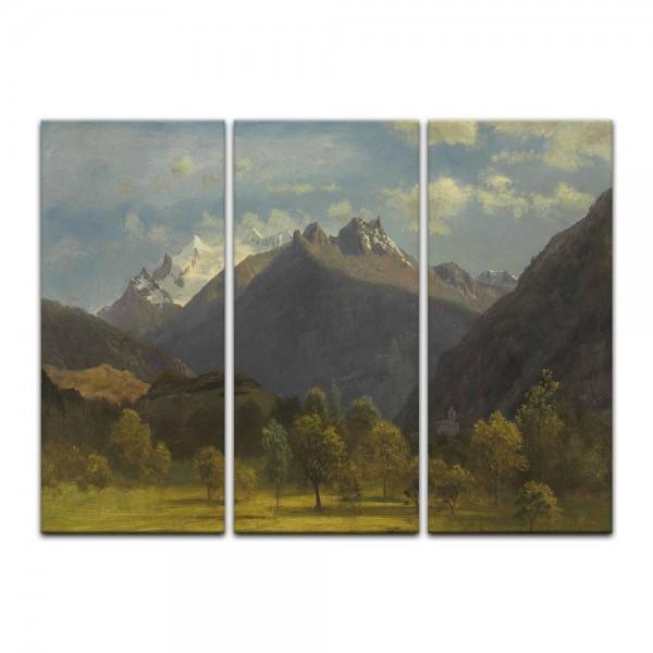 Leinwandbild - Albert Bierstadt - The Alps from Visp