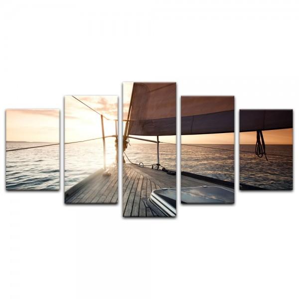 Leinwandbild - Yacht auf See V