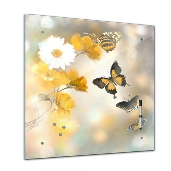 Memoboard - Tiere - Schmetterlinge Aquarell - 40x40 cm
