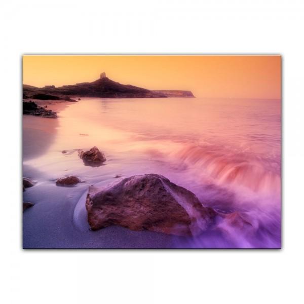 Leinwandbild - Sonnenaufgang über Sardinien