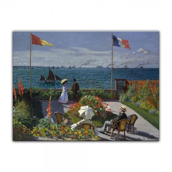 Leinwandbild - Claude Monet - Die Terrasse von Sainte-Adresse