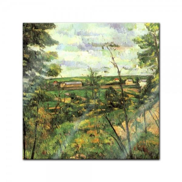 Glasbild Paul Cézanne - Alte Meister - Das Tal der Oise