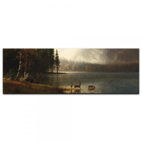 Leinwandbild - Albert Bierstadt - Estes Park, Colorado, Whyte's Lake