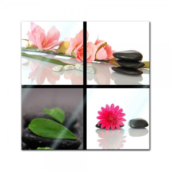 Glasbild - Zen Steine XXI