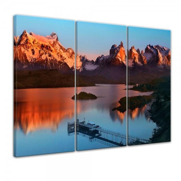 SALE Leinwandbild - Torres del Paine - Chile - 90x60 cm 3tlg